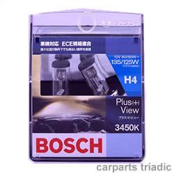 様々な走行条件下でも明るい視界を実現 3450K【BOSCH】プラス(+)ビュー バルブ